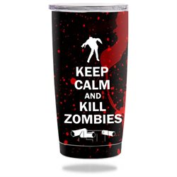 MightySkins Protective Vinyl Skin Decal for YETI 20 oz Rambler Tumbler wrap cover sticker skins Kill Zombies