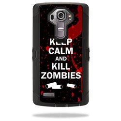 MightySkins Protective Vinyl Skin Decal for Otterbox Defender LG G4 Case wrap cover sticker skins Kill Zombies