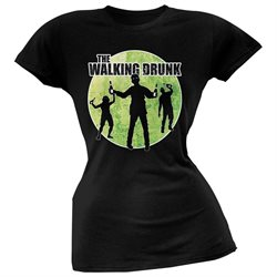 St. Patricks Day - The Walking Drunk Black Soft Juniors T-Shirt