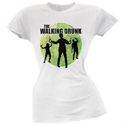 St. Patricks Day - The Walking Drunk White Soft Juniors T-Shirt