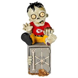 Kansas City Chiefs Zombie Figurine Bank-(Package of 2)