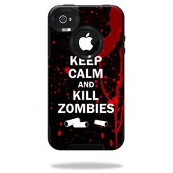 Mightyskins Protective Vinyl Skin Decal Cover for OtterBox Commuter iPhone 4 Case wrap sticker skins Kill Zombies