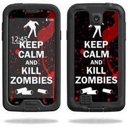 Mightyskins Protective Vinyl Skin Decal Cover for LifeProof Samsung Galaxy S4 Case fre wrap sticker skins Kill Zombies