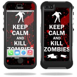 Mightyskins Protective Vinyl Skin Decal Cover for OtterBox Preserver iPhone 5/5S Case wrap sticker skins Kill Zombies