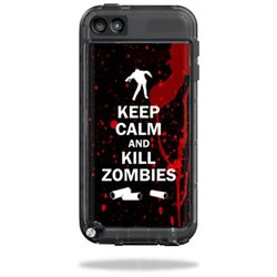 Mightyskins Protective Vinyl Skin Decal Cover for LifeProof iPod Touch 5th Gen Case wrap sticker skins Kill Zombies