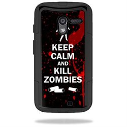 Mightyskins Protective Vinyl Skin Decal Cover for OtterBox Commuter Motorola Moto X Case wrap sticker skins Kill Zombies