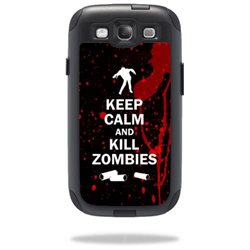 Mightyskins Protective Vinyl Skin Decal Cover for OtterBox Commuter Samsung Galaxy S III S3 Case wrap sticker skins Kill Zombies