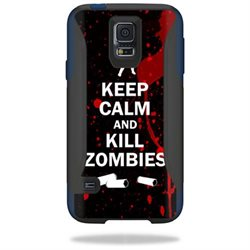 Mightyskins Protective Vinyl Skin Decal Cover for OtterBox Commuter Samsung Galaxy S5 Case wrap sticker skins Kill Zombies