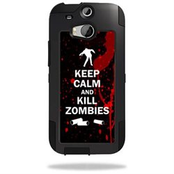 Mightyskins Protective Vinyl Skin Decal Cover for OtterBox Commuter HTC One M8 Case wrap sticker skins Kill Zombies