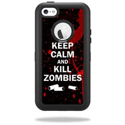 Mightyskins Protective Vinyl Skin Decal Cover for OtterBox Defender iPhone 5C Case wrap sticker skins Kill Zombies