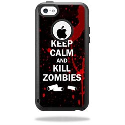 Mightyskins Protective Vinyl Skin Decal Cover for OtterBox Commuter iPhone 5C Case wrap sticker skins Kill Zombies
