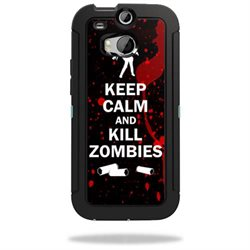 Mightyskins Protective Vinyl Skin Decal Cover for OtterBox Defender HTC One M8 Case wrap sticker skins Kill Zombies