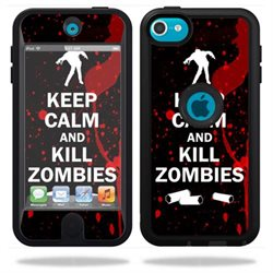 Mightyskins Protective Vinyl Skin Decal Cover for OtterBox Defender Apple iPod Touch 5G 5th Generation Case wrap sticker skins Kill Zombies