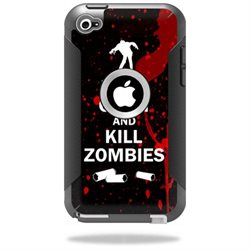 Mightyskins Protective Vinyl Skin Decal Cover for OtterBox Defender iPod Touch 4G Case wrap sticker skins Kill Zombies