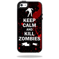 Mightyskins Protective Vinyl Skin Decal Cover for OtterBox Symmetry Apple iPhone 5/5s/SE Case wrap sticker skins Kill Zombies