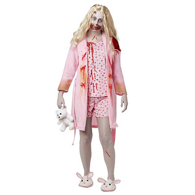 Adult Bunny Slipper Girl Costume - Walking Dead