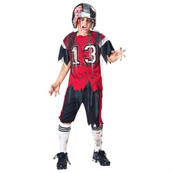 Dead Zone Zombie Football Costume Child Large