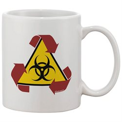 TooLoud Recycle Biohazard Sign Printed 11oz Coffee Mug