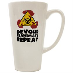 TooLoud Devour Reanimate Repeat 16 Ounce Conical Latte Coffee Mug