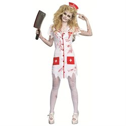 Adult Female Working The Graveyard Shift Zombie Costume by Dreamgirl 9901